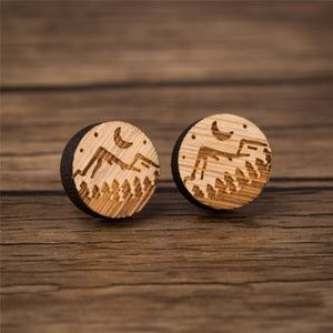 "Urban Outfitters ""Out-in-the-Wild"" Wood Earrings"